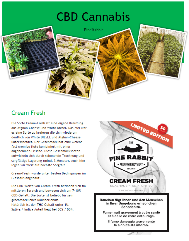 Produktinformation Cream Fresh