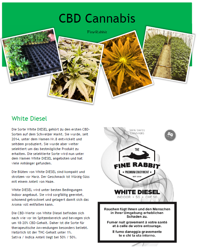Produktinformation White Diesel